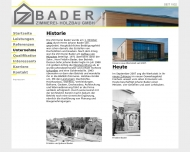 Website BADER Zimmerei - Holzbau