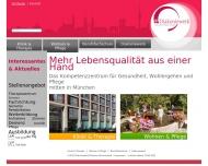 Bild Webseite Seniorenwohn- und Pflegeheim München