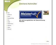 Bild Webseite Zimmerei Andreas Achmüller München