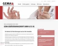 Bild Webseite GEMA Gebäudemanagement München