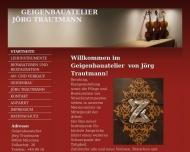 Website Geigenbau Trautmann, Meisteratelier in München