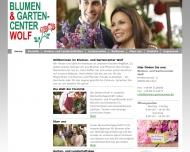 Bild Webseite Blumen- und Gartencenter Wolf München