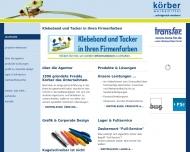 Bild Webseite Körber Nürnberg