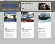 Bild Webseite HEBRA Maschinen- u. Formenbau Nürnberg