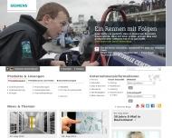 Bild Webseite Siemens Nürnberg