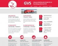 Bild Webseite GVS Lebensmittelhandel Nürnberg