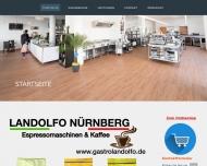 Bild Webseite Gastrogetränke & Café Landolfo Gastronomieeinrichtungsservice Nürnberg