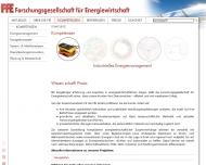 Bild Webseite Forschungsgesellschaft für Energiewirtschaft München