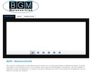 Website BGM Warenvertrieb
