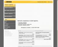 Bild Webseite Bertschi Transport Köln