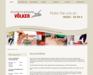 Website Physiotherapiepraxis Völker