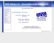 Website SOS Alltag