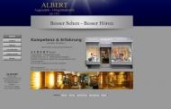 Website Albert Augenoptik Hörgeräteakustik