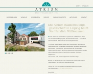 Website ATRIUM Baubetreuungsgesellschaft