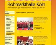 Website Flohmarkthalle Köln, An- und Verkauf Trödelladen