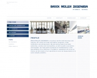 Website BROCK MÜLLER ZIEGENBEIN - Lübeck