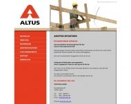 Website Altus Bau