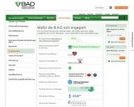 Website BAD Gesundheitsvorsorge und Sicherheitstechnik