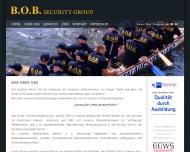 Website B.O.B. Sicherheitsdienst