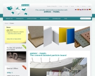 Bild Webseite AMROC Baustoffe Magdeburg