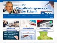 Bild Webseite DACOS-Rechenzentrum Magdeburg