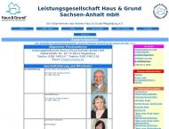 Website Leistungsgesellschaft Haus- u.Grund Sachsen-Anhalt