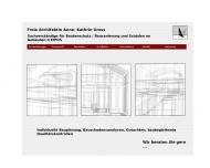 Website Freie Architektin und Bausachverständige Anne-Kathrin Gross