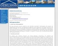 Website Giebelmann Unternehmensgruppe