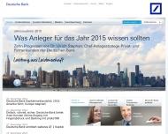 Bild Webseite Deutsche Bank Mainz