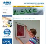 Website Baier Digitaldruck