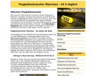 Website Flughafentransfer München