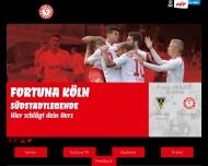 Bild Webseite S.C. Fortuna Köln Köln