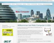 Bild Webseite Malo Computer Köln