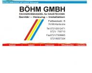 Bild BÖHM GmbH Fachgroßhandel für Haustechnik