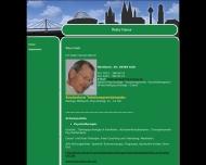 Website Peter Groß, Praxis für Psychotherapie