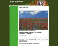 Bild Webseite Schreibbüro Auris-et-Actum Höxter