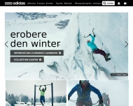 Bild Webseite Adidas Shop Köln