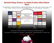Bild Webseite OTTO-Bestellshop/Hermes-Paketshop/Textilreinigung/Lotto Halle