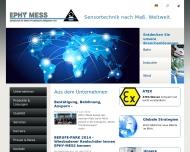 Website EPHY-MESS Gesellschaft für Elektro-Physikalische Messgeräte