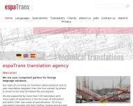 Bild Webseite espaTrans Kiel