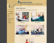 Website BARTSCH & BENK Praxis für Krankengymnastik