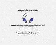 Bild GFO Gesellschaft für bauphysikalische Objektberatung mbH