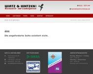 Website Wirtz & Hintzen