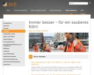Website Abfallwirtschaftsbetriebe Köln