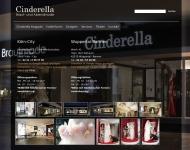 Bild Webseite Cinderella Braut u. Abendmoden Köln