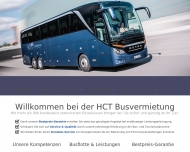 Website HCT Busvermietung