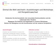 Bild Webseite Dialog im Dunkeln Hamburg