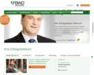 Bild Webseite BAD Gesundheitsvorsorge und Sicherheitstechnik Karlsruhe