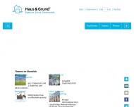 Bild Webseite Vereinigung der Haus-, Grund- und Wohnungseigentümer Halle
