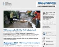 Website Böhler Antriebstechnik Elektro-Maschinen
